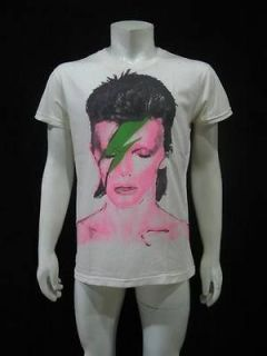 David Bowie Ziggy Stardust Punk Glam Rock Men T Shirt Vintage Re