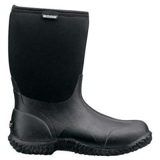 61152 Bogs Black Classic Mid Womens Boots Size 9