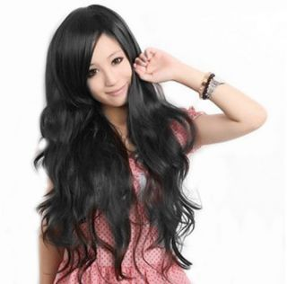 black new ​2012 Fashion Long Curly Wavy Womens Wig/Wigs Full Wig
