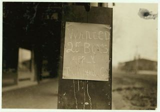 Sign on Company store,Wheaton Glass Works. Location Millville,New