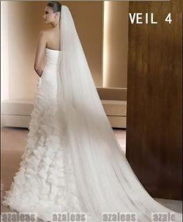 Ivory Long Bridal Wedding Veils New Wedding Accessories