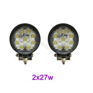 27W LED Work Light Lamp Jeep Off Road Forklift Bowfishing Car Flood