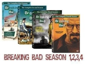 Breaking Bad DVD COLLECTION SEASONS 1,2,3,4. NEW FACTORY SEALED FREE