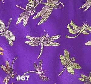 Violet Dragonfly CHINESE BROCADE FABRIC 3 YARD Dressmaking