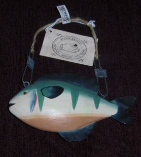 VTG metal FISH figurine MIDWEST of CANNON falls handmade WALL hanging