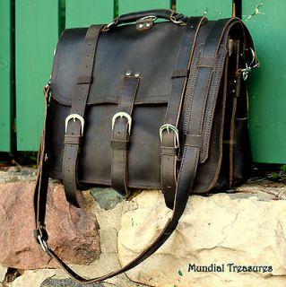 MESSENGER BAG   Mens Premium Leather Messenger Bag/ Briefcase