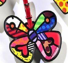 Romero Britto BUTTERFLY Luggage Tag