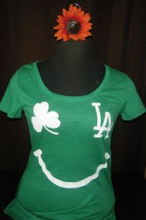 SECRET PINK LOS ANGELES DODGERS GOOD LUCK CHARM T SHIRT SMALL