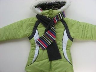 NWT Girls 7/8 10/12 14/16 London Fog Ski Jacket Coat w/ Fleece Scarf $