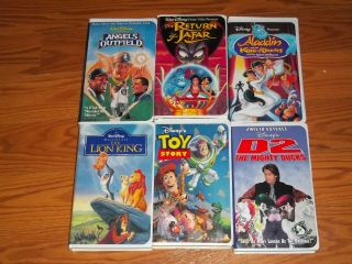 Lot of 6 Disney Video VHS Ducks D2 Toy Story Lion King of Thieves