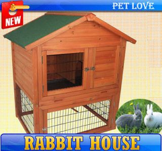 Frame Rabbits House Chicken Coop Bunny Hutch Poultry Box Hen Home