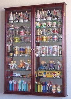 Shot Glass Display Case Wall Holder Cabinet, 1 door for 100% Exposure