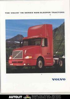 1997 Volvo VN Non Sleeper Tractor Trailer Truck Brochure