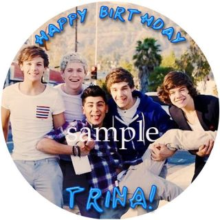ONE DIRECTION Round Edible CAKE Image Icing Topper Birthday Party