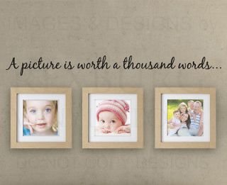 Wall Sticker Decal Quote Vinyl Art A Pictures Worth a Thousand Words