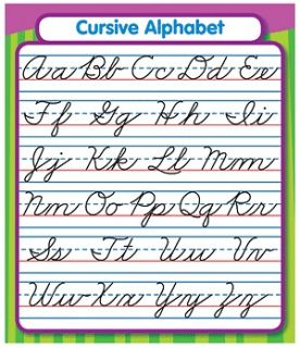 CURSIVE ALPHABET 24 Sticker Sheets 3x3.75 Study Buddies Stickers NEW