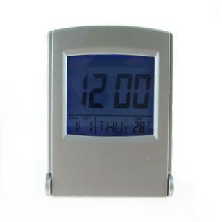 New Travel Desk LCD Alarm Clock Calendar Temperature Backlight