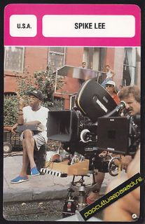SPIKE LEE Movie Director FRENCH BIOGRAPHY PHOTO CARD