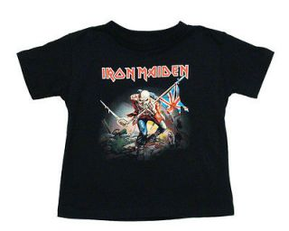 Iron Maiden The Trooper Metal Rock Band Toddler T Shirt Tee