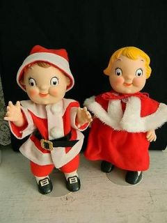 Vintage Santa Claus & Mrs. Claus Campbell Soup Kids Dolls~Collectors