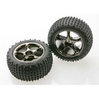 Traxxas 2470A Black Chrome Tracer Rear Wheels/Alias Tires(2) Bandit