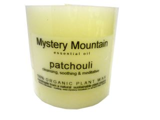 Patchouli Scented Organic Candle  100% Plant Wax   50 hours burn time