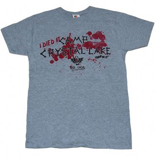 FRIDAY THE 13TH I DIED AT CAMP CRYSTAL LAKE SHIRT JASON VOORHEES M, L