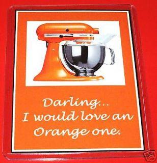 Tangerine Orange KitchenAid Kitchen Aid Fridge Magnet