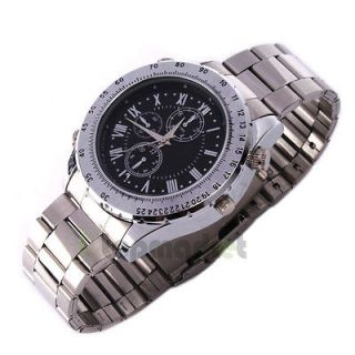 Hot 4GB Fashion High quality Waterproof Watch With Camera Silver Video