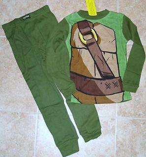 NWT Teenage Mutant NINJA TURTLES TMNT long shirt pants 2pc pajamas 6