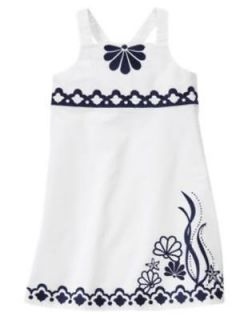 NWT Gymboree Cape Cod Cutie Dress Size 4 5 6 7 White Navy Seashell