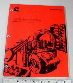 CUMMINS PARTS MANUAL   V / VT378 SERIES   BIG CAM AUTO & CONST
