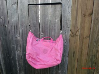 Pink Kipling Duffle Overnight Bag