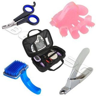 Nail Clippers Scissors Grooming Trimmer Brush Comb for Pet Dog Cat