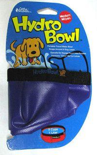 Hydro Bowl Portable Folding Travel Dog Water Bowl ~ Medium 5 Cup Size