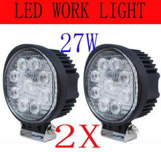 2x27w 12v24v LED Work Light 4x4 Tractor Truck Jeep ATV SUV Fog Off