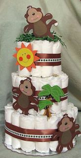 Cake MONKEYS, MONKEYS, Zoo, Safari Animal Baby Shower Centerpiece