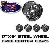 SET OF 5) 15500.70 Rugged Ridge Black Steel Wheels 17X9 JEEP WRANGLER