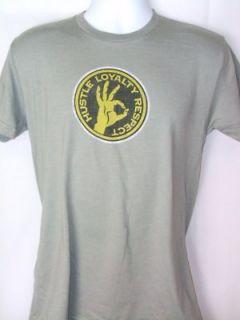 JOHN CENA Hustle Loyalty Respect Logo WWE Gray T shirt