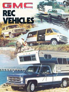 1976 GMC Truck Jimmy Suburban Van Sprint Camper Sales Brochure Catalog