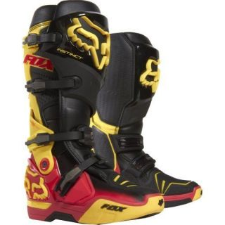 BRAND NEW 2013 FOX RACING CHAD REED INSTINCT BOOTS RED/YELLOW