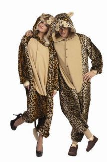 LUX LEOPARD ADULT COSTUME CAT CHEETAH JUNGLE ZOO ANIMAL JUMPSUIT