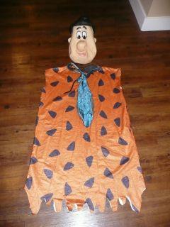 1994 Universal Studios Fred Flintstone Halloween XL Costume   rubber