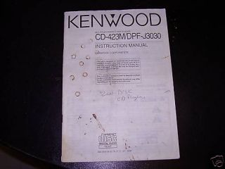 Manual for Kenwood Multiple Compact Disc Player