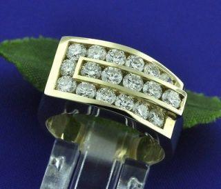 BLING BLING 2.50 CT MENS DIAMOND RING yellow GOLD VS2 G