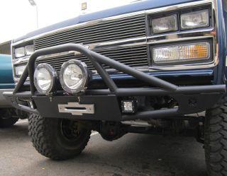 OFF ROAD FRONT WINCH BUMPER FITS CHEVY GMC K5 BLAZER & TRUCK 1973 1991