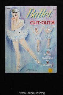 Vintage 1964 Whitman Ballet cut outs paper doll book new uncut *DJ