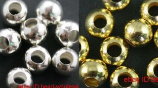 100/500pcs Charm Seamless Silver/Gold Plated Metal Loose Spacer Beads