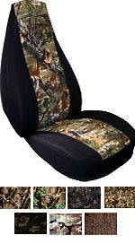 CHEVY EQUINOX TRUCK SEAT COVERS IN CAMO FRONT AND REAR choose color