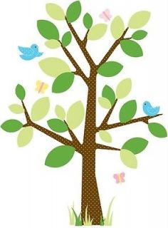 New Baby Nursery Tree Mural Wall Decals Giant Stickers